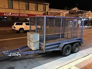 DUAL AXLE 10x5 trailer HIRE with high cage and ramp Canberra City North Canberra Preview