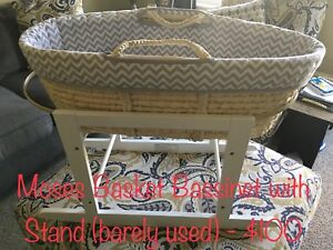 Moses Basket Bassinet with Rocker Stand