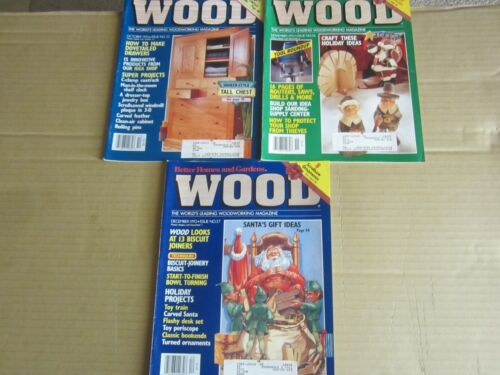 Better Homes and Gardens Wood Magazine (3 Issues-1992 #55-56-57)