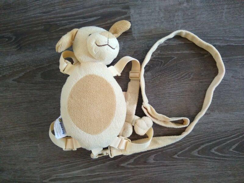GOLD BUG Children PUPPY Backpack Harness 2 in 1 Safety Leash Tan Plush Soft Cute