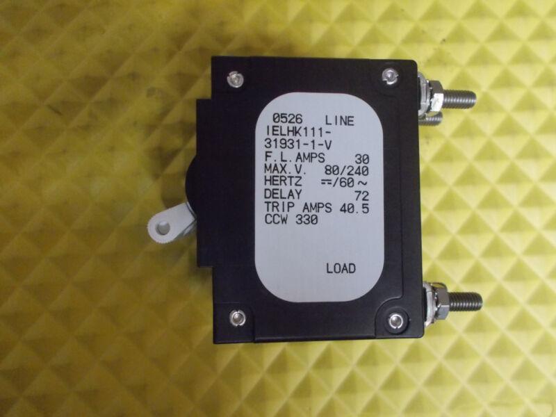 Airpax IELHK111-31931-1-V 30 Amp Triple Pole Circuit Breaker Marine