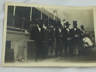 Antique Photograph Men in Costume Riverboat Gambler 26234 Photo