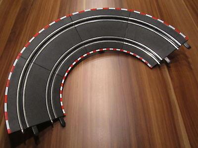 Carrera GO!!! / Digital 143 Steilkurve komplett 4 Kurventeile + 2 Stützen