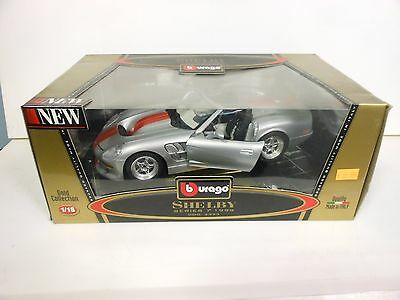 Burago 1999 Shelby Series 1 Silver Die-cast 1:18 Scale