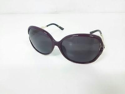 Auth GUCCI Double G GG0076SK Dark Brown Gold Plastic Hardware Sunglasses