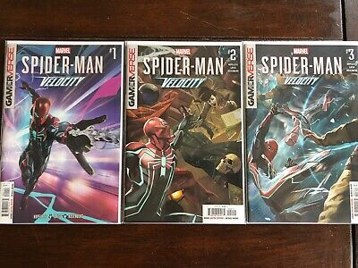 SPIDER-MAN VELOCITY #1-#3 FIRST PRINT MARVEL COMICS (2019) GAMERVERSE NM