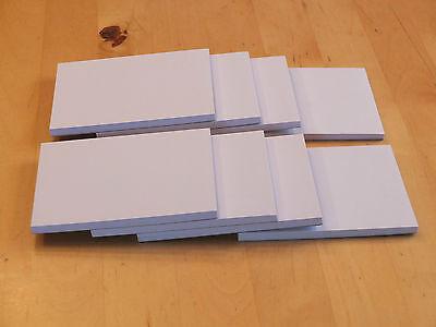 8 Notizblöcke, Schreibblöcke, Einkaufszettel DIN A 7, 80g/m², 50 Blatt