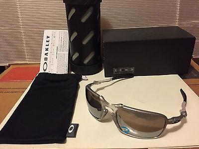 NEW OAKLEY X-Metal Badman - Sunglasse, Ti w/ Chrome Iridium Polarized, (Badman Oakley)
