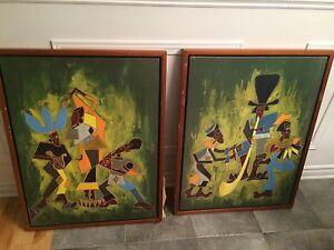 2  huiles originales signées