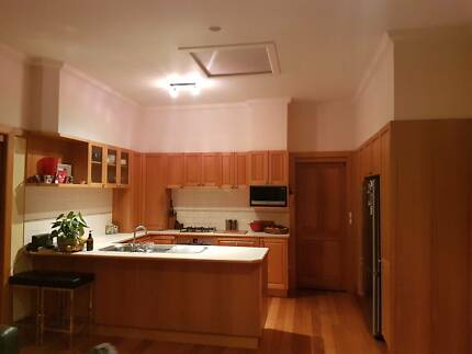 Second hand solid Vic Ash timber kitchen and Laundry
