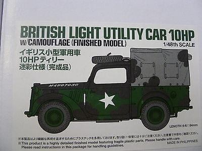 British Light Utility Car 10HP camouflage 1:48 Tamiya Miniature Collection 26545