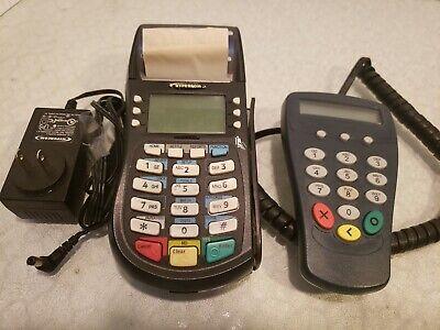 Hypercom Optimum T4220 Credit Card Processing Terminal P1300 Pin Pad P