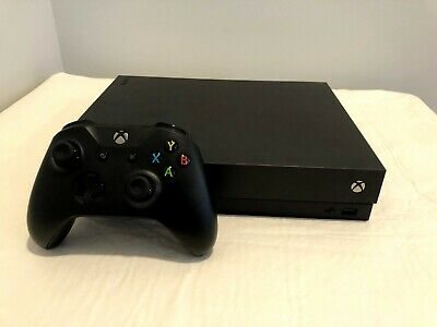 Microsoft Xbox One X 1TB Console (Black) - Lightly used, with controller + cords