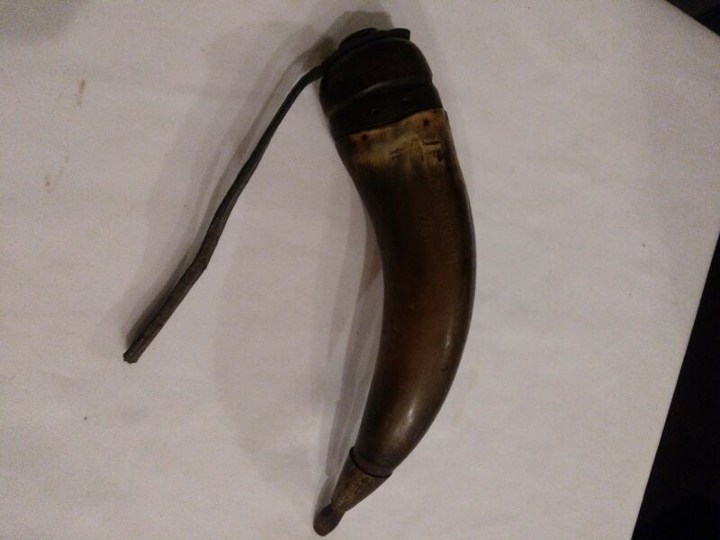Rare Revolutionary Powder Horn Signed JD Barrett 1761 - must have!