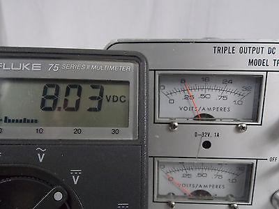 Power Designs Triple Output Dc Power Supply Model Tp340