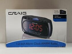 CRAIG CR45372 ALARM CLOCK 1.2 INCH PLL AM/FM RADIO w Aux Jack for IPOD - BLACK