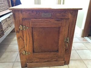 Oak Ice Chest style cabinet