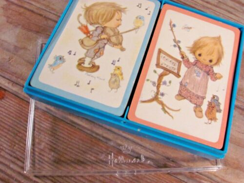 SWEET Betsey Clark 2 full decks playing cards &case Hallmark VERY GOOD CONDITION