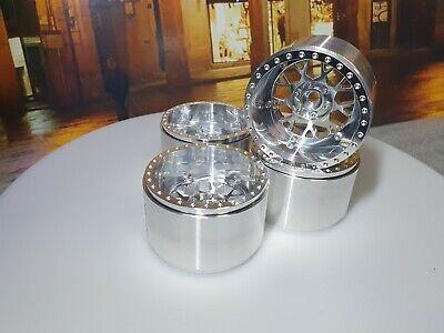 4PCS Aluminum 2.2inch Beadlock  Wheels &  Wheels Cap Lims for 1/10 RC Crawler