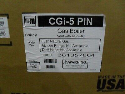 Weil-mclain 381357864 Cgi-5-pin Ng Boiler With Taco Circ 119 Mbh