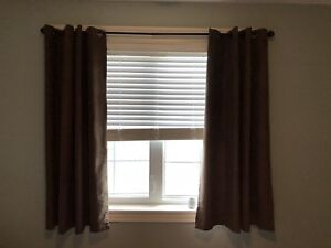 Free brown curtains