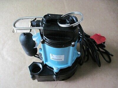 Little Giant 10ec-cia-sfs 12 Hp Sump Effluent Pump Submersible Cast Iron Tested