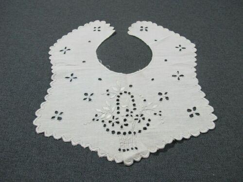 Vintage flowers bouquet cutwork lace fabric girl bib collar