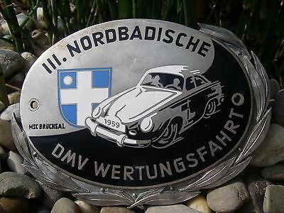 vintage DMV GERMANY - NORDBADISCHE RALLYE BRUCHSAL 1959 Badge - PORSCHE 356