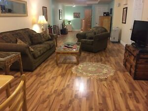 FULLY FURNISHED extra large 1 bedroom apartment