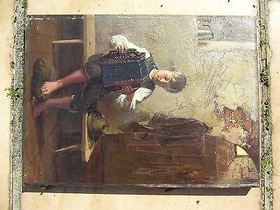 Bild Harmoniumspielender Junge 19. Jahrhundert G. Kauffmann 1887 evtl. Adolf ?