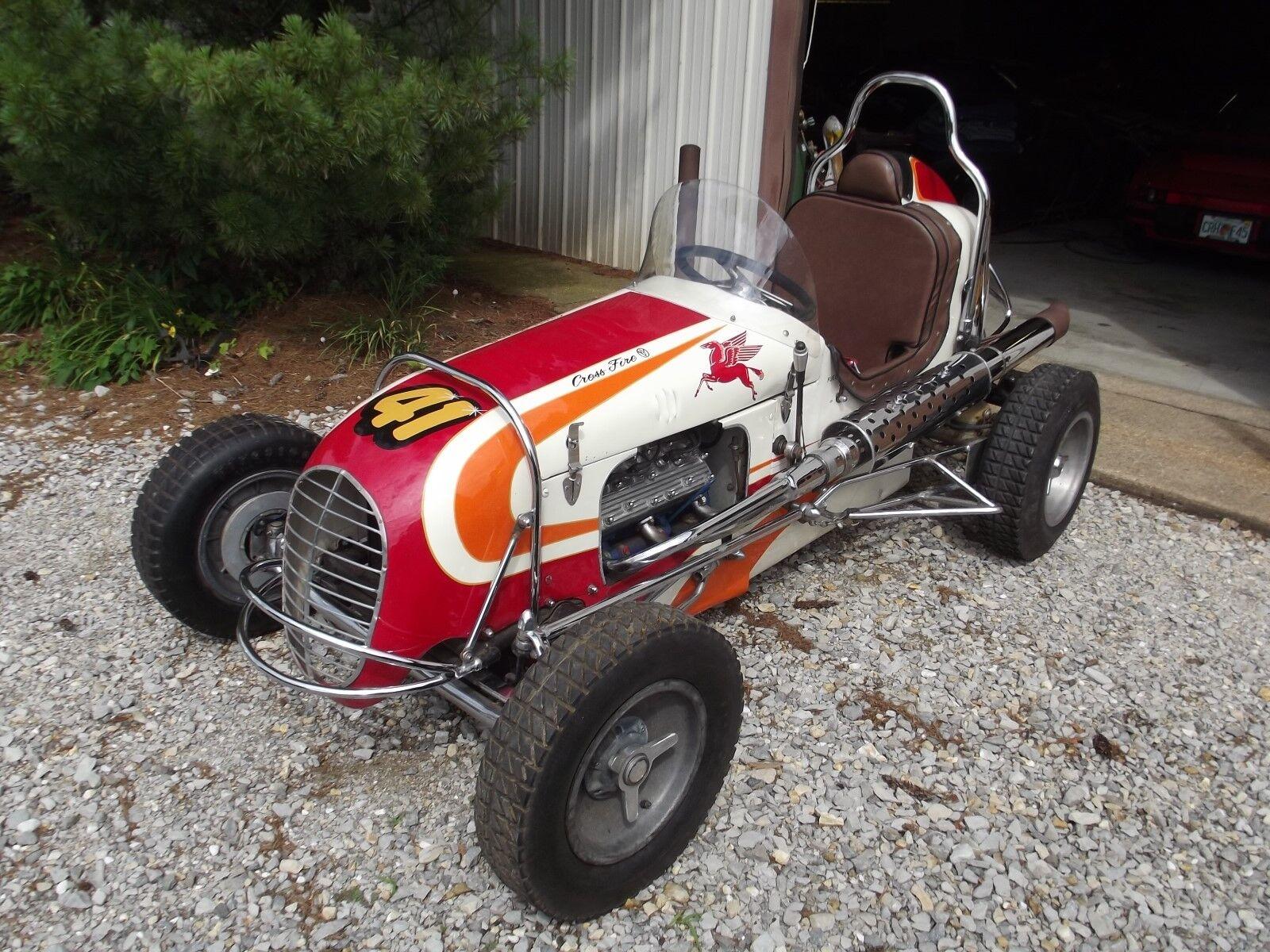 1948 Hillegas Midget Crossfire Ford V8 60hp Vintage Race Car  Indycar Indy