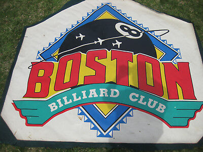 ORIGINAL Vintage Boston Billiard Club Banner