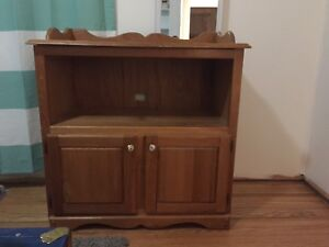 Solid wood change table/cabinet