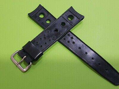 vintage strap for racing rally diver sports watch. old stock 1970 18mm