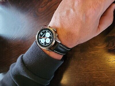 Montblanc Summit 2 Stainless Steel Breitling Leather Deployment Strap.