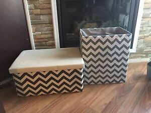 Storage ottoman and bin