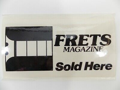 FRETS MAGAZINE Vtg 80s90s AUTHORIZED DEALER Door Decal Sticker RARE UNUSED