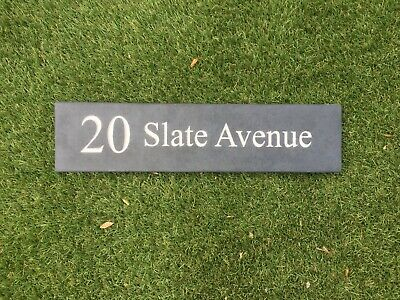 Slate House Plaque Sign Personalised Thick Slab of slate Highest Quality