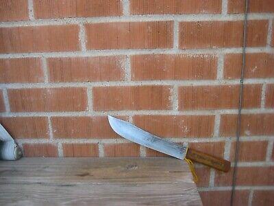 """Vintage 9"""" Blade *** SHAPLEIGH *** Fine Large Carbon Butcher Knife USA"""