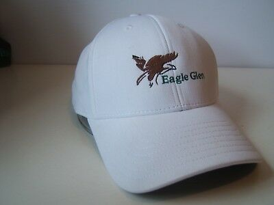 Eagle Glen Golf Course Hat White Discolored TaylorMade Hook Loop Baseball Cap, used for sale  Moncton