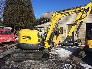 Pelle excavatrice Wacker neuson 2015 125 heures