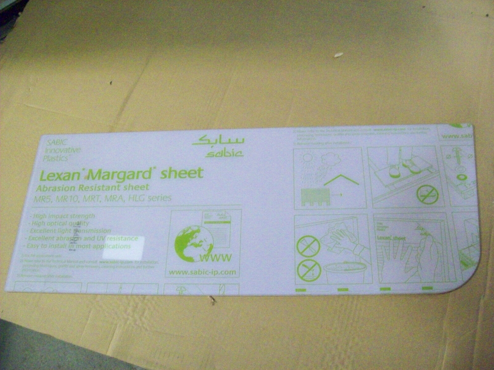 Lexan Margard Clear Sheet 1/8