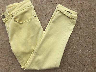 Zara Ladies Yellow Cotton Ankle Jeans Size 10