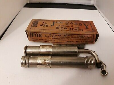 Vtg Jim Dandy Alcohol Automatic Blow Torch No. 675-B 1940's-50's Soldering Tool
