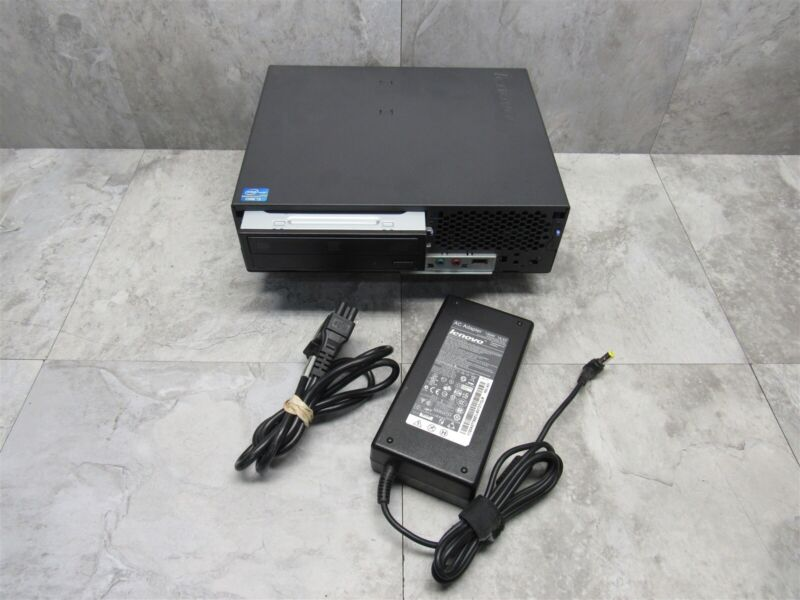 IBM Lenovo ThinkCentre M91 USFF i3-2120 3.3GHz 4GB DVDRW + AC Adapter ~ 7516-AC4