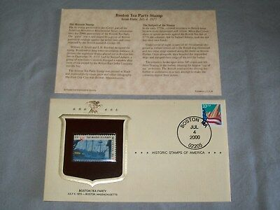 HISTORIC STAMPS OF AMERICA / BOSTON TEA PARTY / BICENTENNIAL ERA / FDC / 2000 - Party Of America
