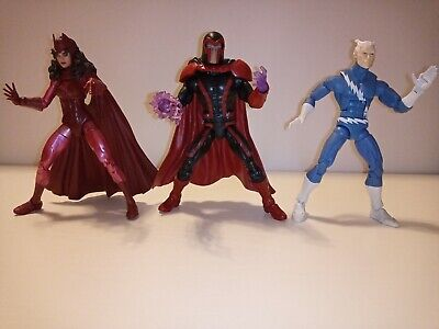 "Marvel Legends Series 6"" Magneto Quicksilver Scarlet Witch action figures X-Men"