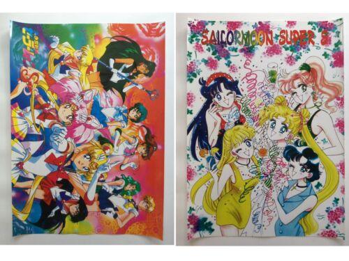 Sailor Moon Mars Uranus Pluto Chibimoon Venus Anime Set of 2 Poster Rare New Lot