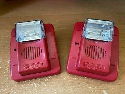 One 1 Gentex Gec3-24wr Commander 3 Red Hornstrobe Fire Alarm Qty