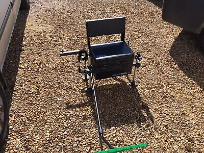 Gear Box Fishing Seat Box With Back Rest Very Good Condition With Accessories